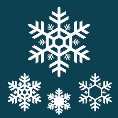 Blanc, flocon de neige, icônes, bleu, fond papier peint • papiers ...