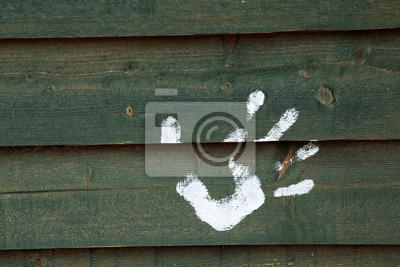 Blanc main imprimé sur la carte papier peint • papiers peints ...