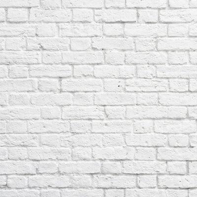 Papiers peints Blanc mur de briques