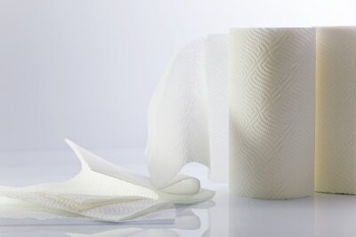 Blanc serviette en papier