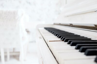 Papiers peints Blanc, vendange, piano, blanc, salle