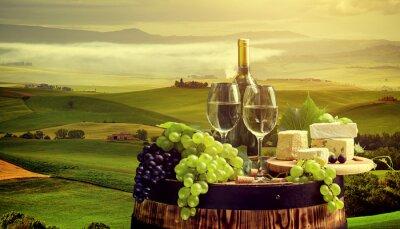 Papiers peints Blanc, vin, baril, vignoble, Chianti, Toscane, Italie