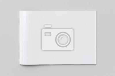 Papiers peints Blank horizontal booklet cover