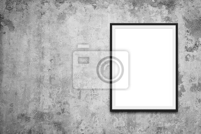 Papiers peints blank picture frame on vintage wall - blank canvas mockup -