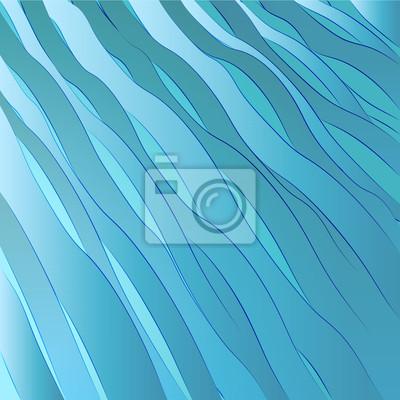 bleu descendit vague surface template de carte postale