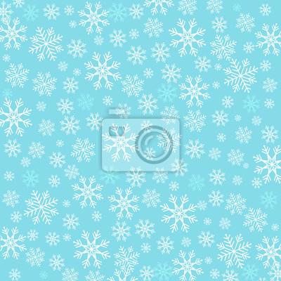 Bleu, fond, flocons neige
