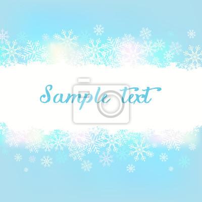 Bleu, fond, flocons neige, vecteur, Illustration