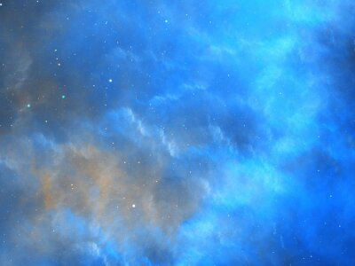 Papiers peints Bleu, incandescent, nébuleuse, fractal