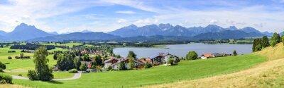 Papiers peints Blick auf Hopfen am See dans l'Allgäu
