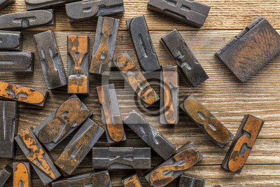 Papiers peints blocs d'impression typographique Type de bois