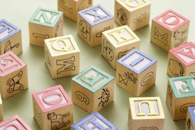 Papiers peints blocs de construction jouets.