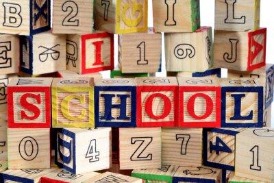 Papiers peints Blocs en bois alphabet