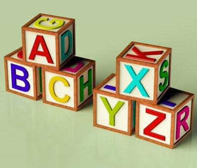 Papiers peints Blocs enfants avec ABC et XYZ comme symbole pour l'éducation et Learnin