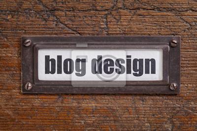 Papiers peints Blog étiquette de fichier de conception