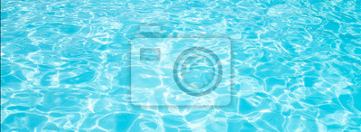 Papiers peints Blue ripped water in swimming pool Summer vacation Banner