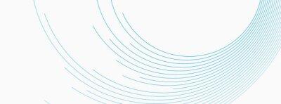 Papiers peints Blue white minimal round lines abstract futuristic tech background. Vector digital art banner design