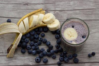 Papiers peints Blueberry banane milk-shake