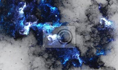 Papiers peints BlueNebula - Digital abstraction peinture d'une galaxie avec des étoiles dans l'espace