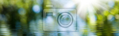 Papiers peints blurred image of natural background from water and plants
