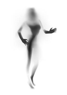 Papiers peints Blurred silhouette femme sexy, les mains. Illustration vectorielle.