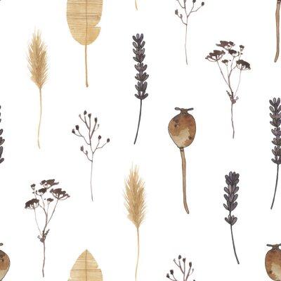 Papiers peints boho watercolor digital paper nuetral clipart magic meadows seamless pattern clip art bohemian celestial spirit moth mystery dragonfly