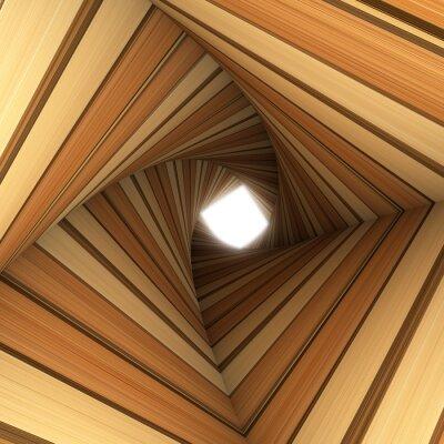 Papiers peints bois tunnel torsadée