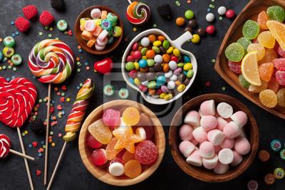 Papiers peints Bonbons colorés, gelée et marmelade
