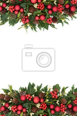 Image Bordure Noel.Papiers Peints Bordure Decorative De Noel Avec Des Decorations De Boule Rouge