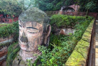 Papiers peints Bouddha géant (Da fo) - Leshan, Sichuan, Chine
