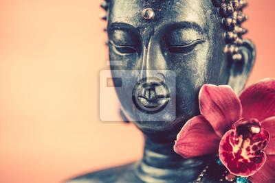 Bouddha Zen Papier Peint Papiers Peints Tete Orchidee Fleur