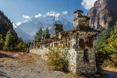 Papiers peints Bouddhiste priant roues - Annapurna région.