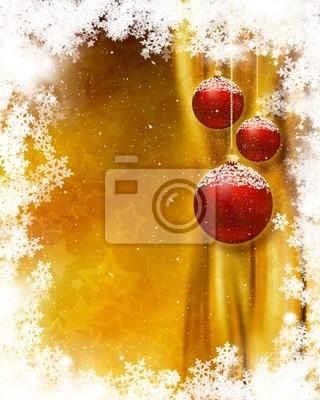 Boule de Noël arrière-plan
