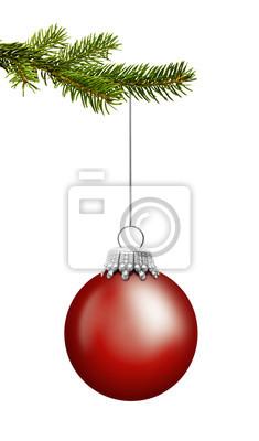 Boule de Noël Rouge