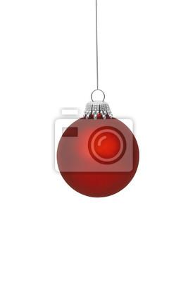 boule rouge de Noël