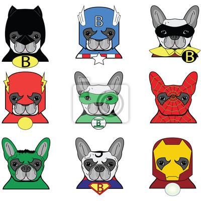 Bouledogue français Chien Superheros