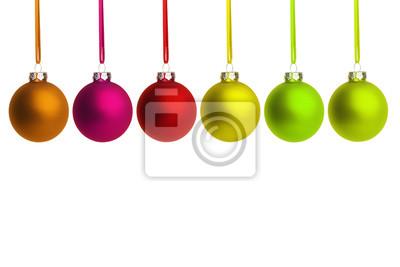 boules colorées de Noël