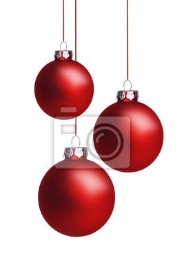 Boules de Noël rouges