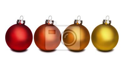 Boules de Noël rouges et dorées
