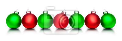 Boules de Noël rouges et vertes