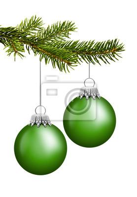 boules de Noël vert