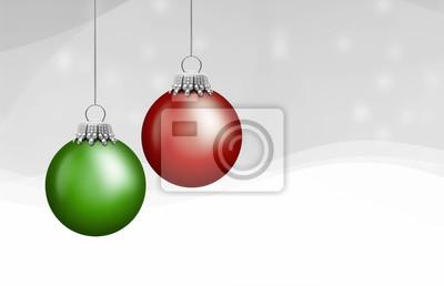 boules rouge et vert de Noël
