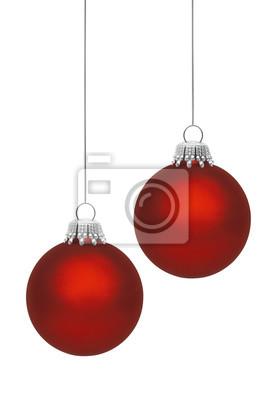 Boules rouges de Noël