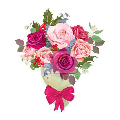 Bouquet De Fleurs Concept De Design Pour Noel Carte De Saint