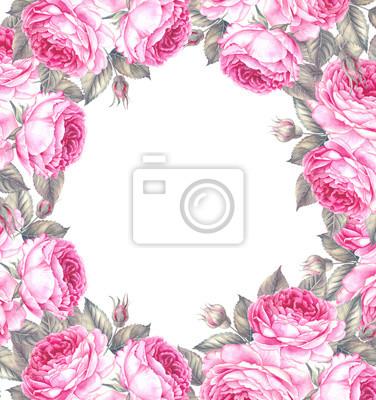 Bouquet De Rose Aquarelle Peut Etre Utilise Comme Carte De Papier
