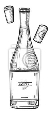 Dessin A Imprimer Bouteille De Vin bouteille, vin, à main levée, crayon, dessin papier peint • papiers