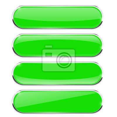 Papiers peints Boutons verts. Ovale, brillant, toile, icônes, métal, cadre