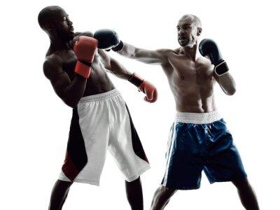 Papiers peints boxeurs de boxe hommes silhouette isolée
