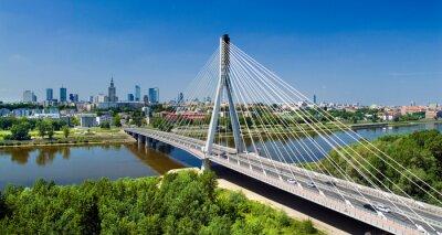 Papiers peints Bridge in Warsaw over Vistula river