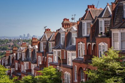 Papiers peints Brique, Maisons, coup, panoramique, Muswell, colline, londres, Royaume-Uni