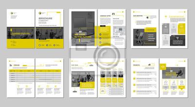 Papiers peints Brochure design créatif. Modèle polyvalent avec couverture, dos et pages intérieures. Design géométrique plat minimaliste à la mode. Format vertical a4.
